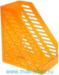 Лоток для бумаг вертикальный пластмассовый тонированный оранжевый : арт. ЛТ906 (ТМ Стамм)
