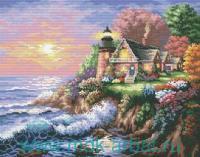 """Набор для вышивания 28х36см """"Шумный берег"""" : арт. 4032-14 (ТМ Белоснежка)"""