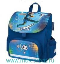 "Ранец 24х26х14см ""Mini Softbag.Soccer"" синий : Арт.50008155 (ТМ Herlitz)"
