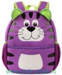 Рюкзак 32х24х11см «Котик» фиолетовый : Арт.46401 (ТМ Феникс+)