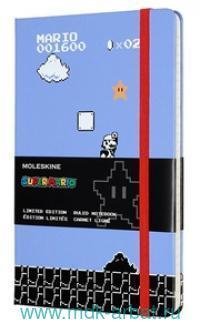 """Книга для записей А5 120л. линейка """"Super Mario""""сиреневый : Арт. 1074986 (ТМ Moleskine)"""