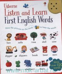 The Usborne Listen and Learn First English Words