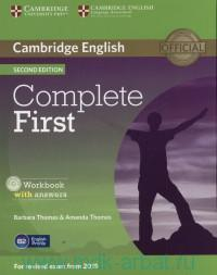 Cambridge English Complete First : Workbook with Answers : for Revised Exam from 2015