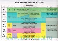 Местоимения и прилагательные : учебная грамматическая таблица