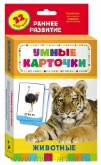 Животные : раннее развитие : развивающие карточки : 32 карточки
