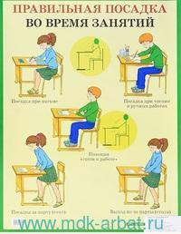 Правильная посадка во время занятий : наглядное пособие для школы