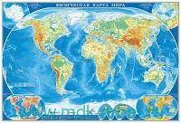 Физическая карта мира : М 1 : 21 500 000 : настенная карта