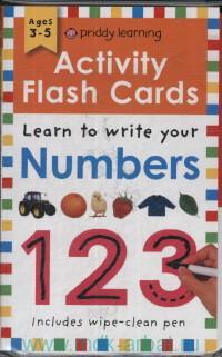 Activity Flash Cards Numbers : Learn to Write Your : Ages 3-5