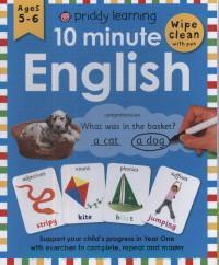 10 Minute English : Ages 5-6 : Wipe Clean With Pen