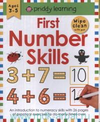 First Number Skills : Ages 3-5 : Wipe Clean With Pen