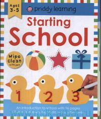 Starting School : Ages 3-5 : Wipe Clean With Pen