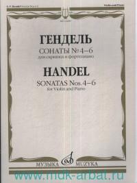 Сонаты № 4-6 : для скрипки и фортепиано