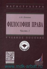 Философия права : учебное пособие. Ч.1