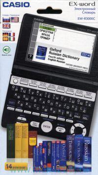Электронный словарь. Casio. EX-Word. EW-R3000C : 14 печатных словарей