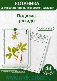 Ботаника. Систематика грибов, водорослей, растений : гербарные карточки. Блок 3. Подкласс розиды : учебное пособие : 44 карточки