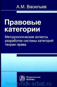Правовые категории: методологические аспекты разработки системы категорий теории права : монография