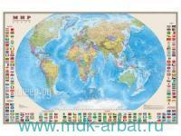 Мир : политическая карта (с флагами) : М 1:30 000 000 : артикул 638