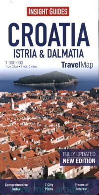 Croatia : Istria & Dalmatia : Travel Map : M 1:300 000