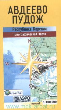 Авдеево. Пудож : Республика Карелия : топографическая карта : М 1:100 000