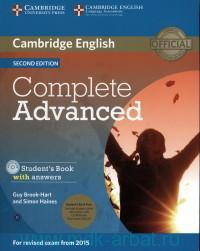 Cambridge English : Complete Advanced C1 : Student's Book with Answers : for Revised Exam from 2015