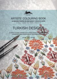Turkish Designs : Artists' Colouring Book : 16 Designs Printed on High-Quality Drawing Paper : For Pencil, Marker, Ink, Crayon, Water Colour