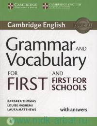 Cambridge English Grammar Vocabulary for First and First for Schools : With Answers : Downloadable Audio and Online Resources