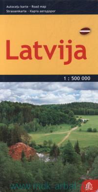 Latvija : карта автодорог : М 1:500 000