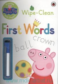 Peppa Pig Wipe-Clean First Words