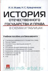 История отечественного государства и права в схемах и таблицах : учебное пособие для бакалавриата