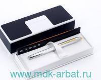 Ручка-роллер «Selectip Century II GT» корпус серебристый с золотистой отделкой : Арт.3304 (ТМ Cross)