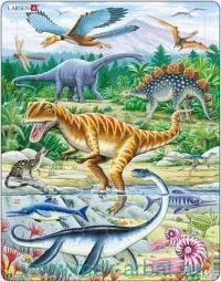 Пазл «Динозавры» : Арт.maxi FH16 (ТМ Larsen)