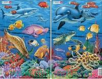Пазл «Коралловый риф» 2 шт. : Арт.midi H23 (ТМ Larsen)