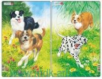 Пазл «Собаки» 2 шт. : Арт.midi H19 (ТМ Larsen)