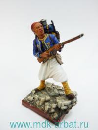 Оловянная миниатюра. Тиральер. Франция 1870 год (ТМ First Legion)