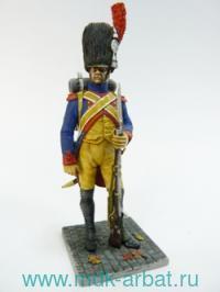 Оловянная миниатюра. Жандарм пешей гвардии Наполеона. 1812 год (ТМ First Legion)