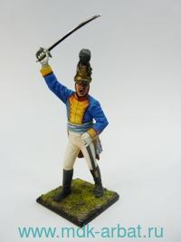 Оловянная миниатюра. Офицер пехоты. Бавария 1812 год (ТМ First Legion)