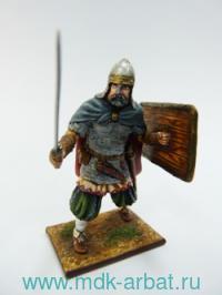 Оловянная миниатюра. Русский ратник. Воин дружины Святослава (ТМ First Legion)