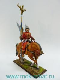 Оловянная миниатюра. Конный крылатый стрелец-жилец (ТМ First Legion)