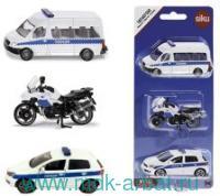 Набор коллекционных моделей «Полиция» : Арт.1824RUS (ТМ SIKU)