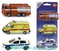 Набор коллекционных моделей «Служба спасения» : Арт.1819RUS (ТМ SIKU)