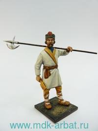 Оловянная миниатюра. Ночной градский страж  (XVII - начало XVIII века) (ТМ First Legion)