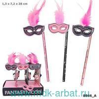 Карандаш простой Fantasy Маска : Арт.048866/008866/розовый (ТМ Depesche)