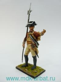 Оловянная миниатюра. Сержант 22-го пехотного полка. Великобритания (ТМ First Legion)