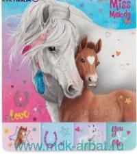 Блокнот для записей : Арт.046374/006374/бледно-голубой (ТМ Miss Melody)