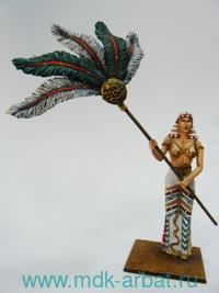 Оловянная миниатюра. Египетская рабыня с опахалом (ТМ First Legion)