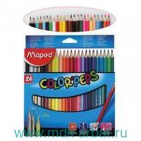 Карандаши 24 цвета «Color'peps» картонная коробка : арт.183224 6 (ТМ Maped)