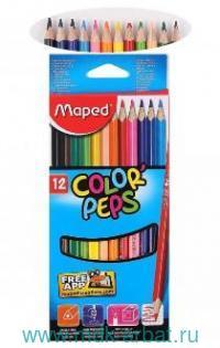 Карандаши 12 цветов «Color'peps» картонная упаковка : арт.183212 3 (ТМ Maped)