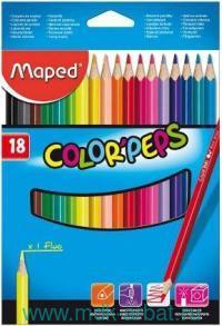 Карандаши 18 цветов «Color'peps» картонная упаковка : Арт.183218 5 (ТМ Maped)