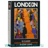 Карты игральные «Плакаты в Лондонском транспорте» 55 листов : Арт.1349 (ТМ «PIATNIK»)