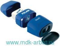 Точилка «Compact Touch Duo» 2 отверстия + ластик, с контейнером, в ассортименте : Арт.4706116 (ТМ Milan)